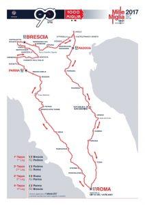 1000 Miglia mappa 2017