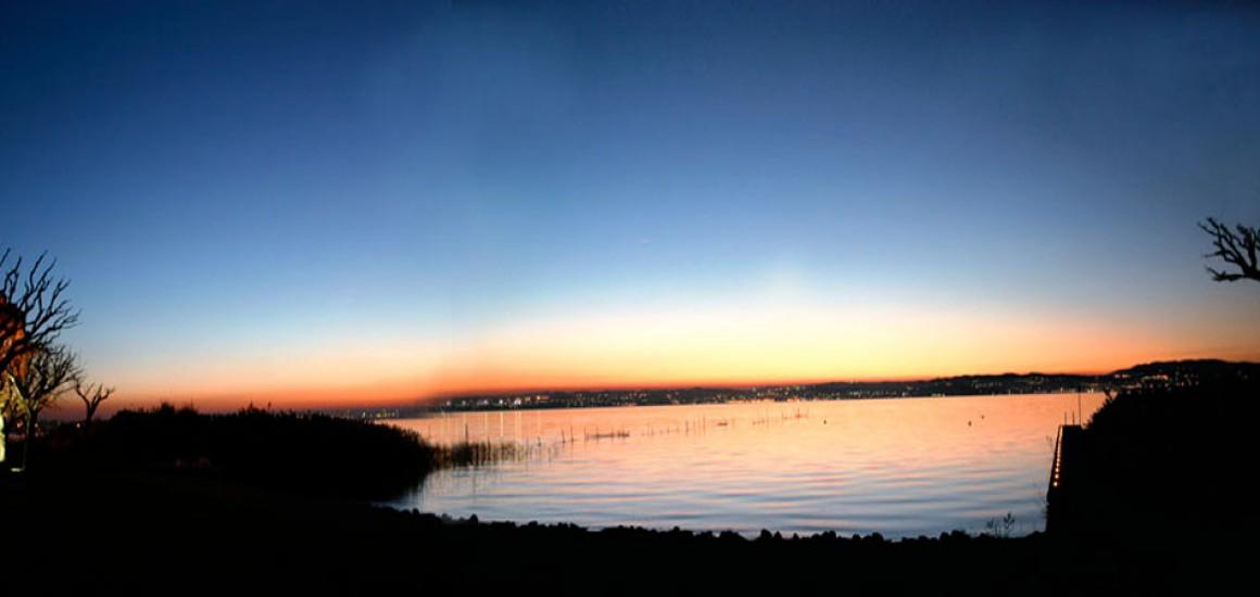 in den Sonnenuntergang …