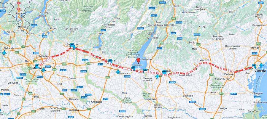 Cartina Lago Di Garda E Dintorni.Lago Di Garda Mappa Sirmione Trasportihotel Lapaul