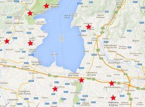 Mappa Garda Golf lago di Garda